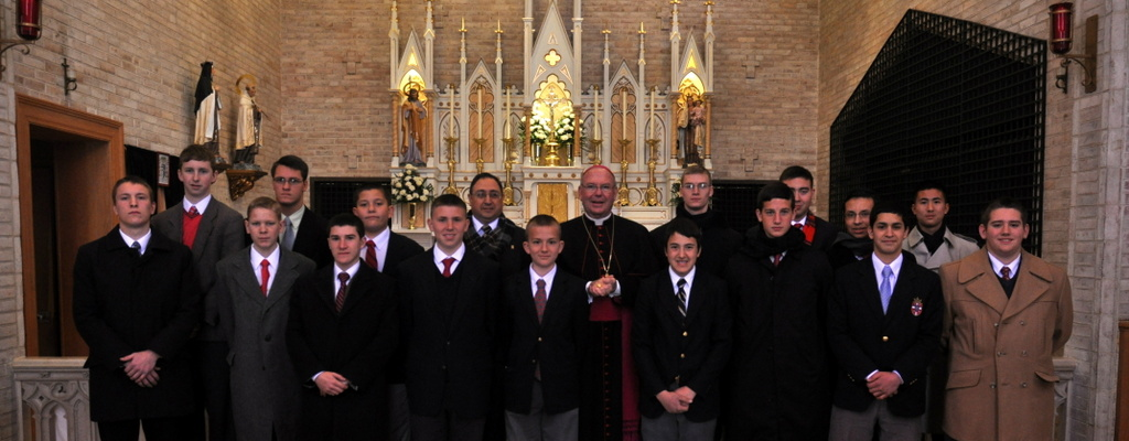 Students with bishop mcfadden
